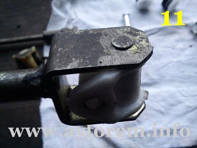 Установка втулки на привод переключения передач
