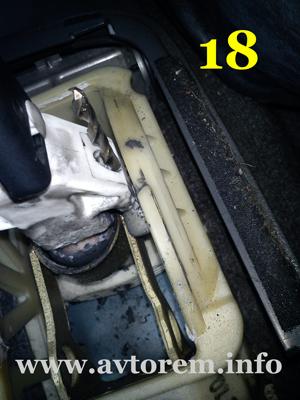 Регулировка кулисы и привода переключения передач на авто дэу ланос нексия