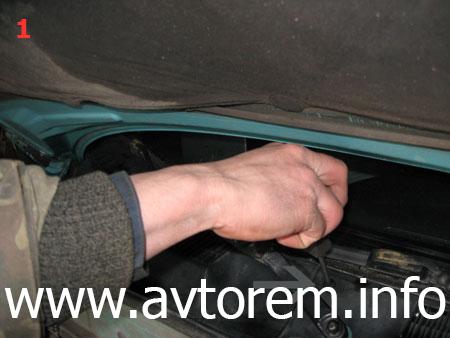 Замена воздушного фильтра салона на автомобиле Daewoo Lanos