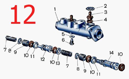 Фото №14 - устройство главного тормозного цилиндра ВАЗ 2110