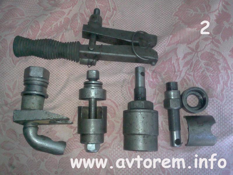 Инструмент и приспособления для замена сайлентблоков передних рычагов на авто ВАЗ-2101, ВАЗ-2102, ВАЗ-2103, ВАЗ-2104, ВАЗ-2105, ВАЗ-2106, ВАЗ-2107, Жигули, Классика