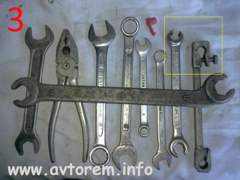 Необходимый инструмент для замена тормозных шлангов, тормозных трубок, задних и передних тормозных цилиндров