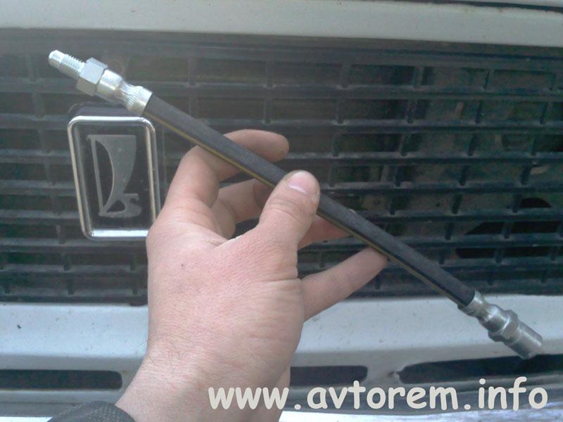 Как поменять задний тормозной шланг на автомобиле ВАЗ-2101, ВАЗ-2102, ВАЗ-2104, ВАЗ-2105, ВАЗ-2106, ВАЗ-2107, Жигули, Классика