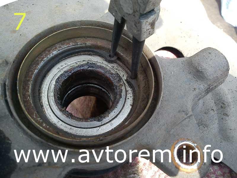 Как поменять переднею ступицу на ваз 2109