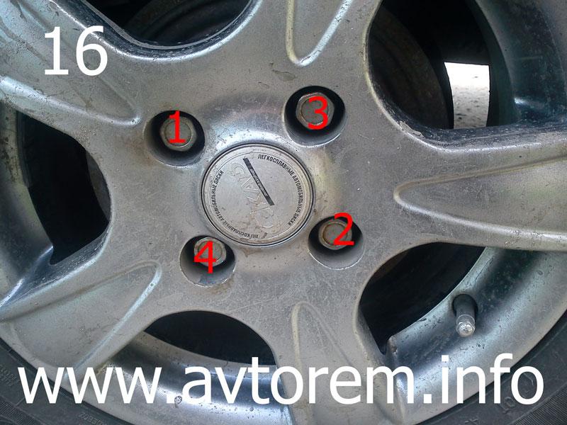 Порядок и степень затяжки колеса автомобиля
