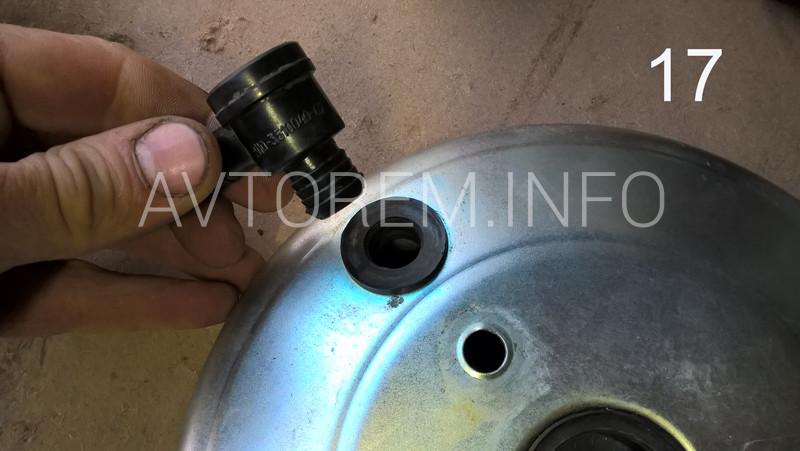 сборка вакуумного усилителя тормозова ваз 2115