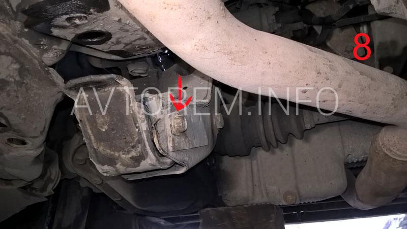 каталожный номер задней подушки двигателя шевроле ланос 96227422