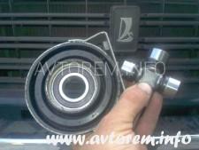Как самостоятельно заменить крестовину и подвесной подшипник карданного вала ваз 2106
