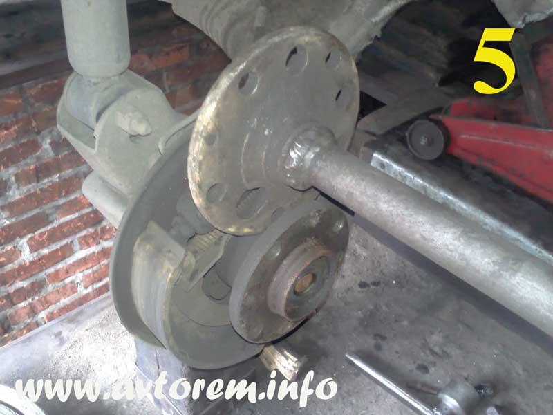 Снятие задней ступицы ВАЗ-2109