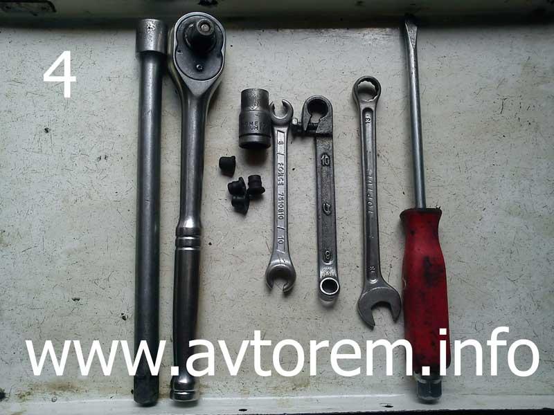 инструмент для замены регулятора давления задних тормозов ваз 21099